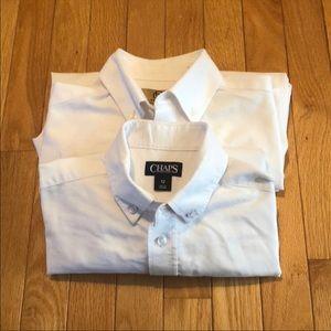 (2) Chaps and Class Club boys white dress shirts
